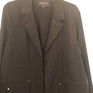 Pinstripe Jacket from LAFAYETTE XL